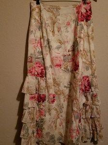 J.Jill Boho floral skirt